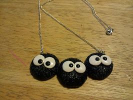 Studio Ghibli Soot Sprites Necklace by 8BitSnake