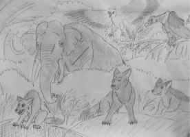 Jungle Book -supporting characters by WDGHK