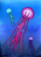 Colorful Jellies by BevyArt
