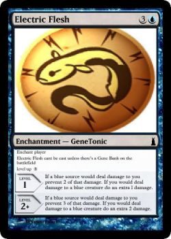 Electric Flesh Gene Tonic MTG card by dixyn0rmous