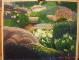 Garden Painting by OxBloodrayne1989xO