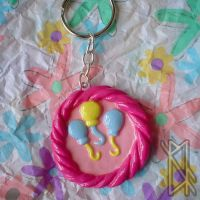 MLP Cutie Mark Keychain - Pinkie Pie by leiko