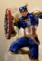 Steampunk Captain America by ecelsiore