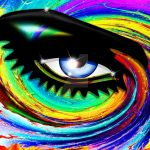 Psychedelic Eye Mesmerizing Look by Bluedarkat