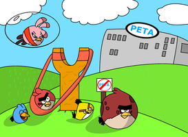 Angry Birds - We're on to you, PETA!! by BigDream64