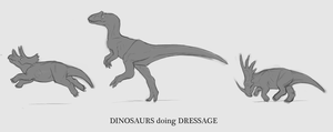 Dinosaurs doing Dressage by Shade703