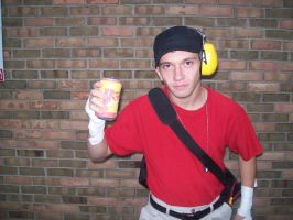 Team Fortress 2 RED Scout Cosplay - BONK! Can by MasteroftheContinuum