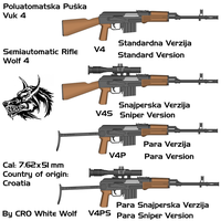 Vuk 4 weapons by crowhitewolf