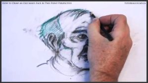 Draw An Old Man's Face In Two Point Perspective 30 by drawingcourse