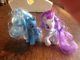 Rarity and Trixie by SugarrCane