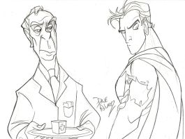 Bruce Wayne and Alfred by DaveAlvarez