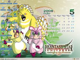 Phantasy Star Universe Desktop by BlooDaBeast