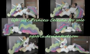Life-size Princess Celestia plush for sale by agatrix