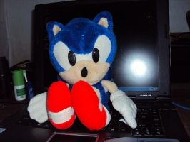 7th Sonic Plush by DazzyDrawingN2