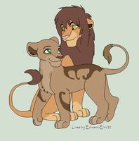 Lion couple adoptable- CLOSED by Zari-Adoptables