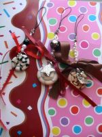 Lollipop swirl charm straps by denimcraze