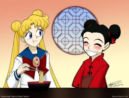 Serena and Pucca by ArthurT2013
