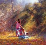 'Afternoon Meeting' - Oil On Canvas - Robert Hagan by robert-hagan
