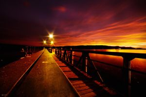 Sunset At The Pier by DREAMCA7CHER