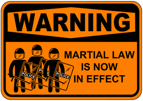 Warning Marshal Law Sign by topher147