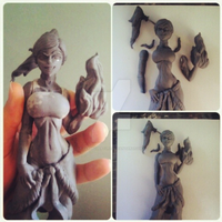 Pin-up Korra figure by Claysculpture