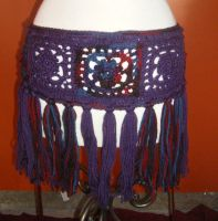 Purple Granny Squares hip belt by enchantress13