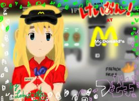 Mugi working at Mcdonald's by Lehvorak