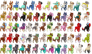 Mass Puppy Adopts by love-the-adopts