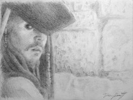 Captain Jack Sparrow sketch by Tpwacom15