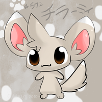 Pokemon BW - Minccino by chibitracy