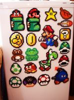 Mario Fridge Bead Sprite by SerenaAzureth
