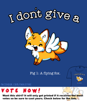 Woot Shirt - A Flying Fox by fablefire