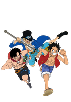 Luffy,Ace,Sabo by steprisc