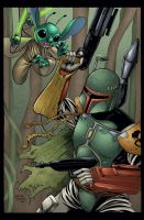 Boba Fett vs Stitch colors by seanforney