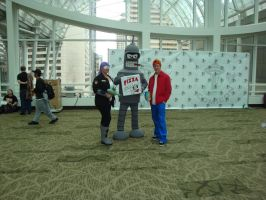 Leela, Bender and Fry by Lillagon
