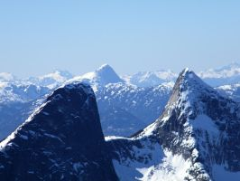 Steinbok and Ibex Peak (L-R) by Westcoastspirits