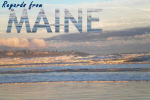 Maine Postcard by StoneButterflies