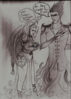 Cupid and Pitch by Monarch-Sky