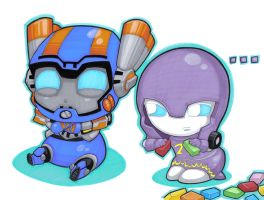 wee sentinel and ultraviolet by prisonsuit-rabbitman