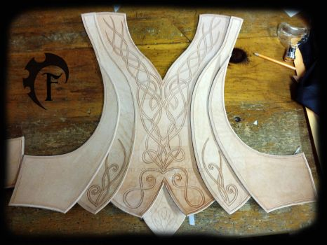 Elf leather armor WIP by Feral-Workshop