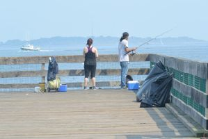 Fishing On the Pier 2 by Miss-Tbones