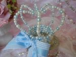 Blue and White Sweet Lolita Crown by bnybriek