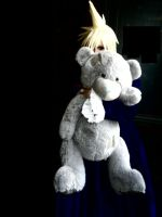 Cloud Strife in Dress and Bear by 696Axel696