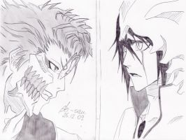 Bleach: Grimmjow vs. Ulquiorra by 19Skejciara10