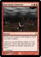 Operation Cauterize Magic Card by UWoodward