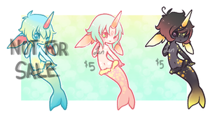 { narwhals I } Reduced price! by PrinceTetsuo