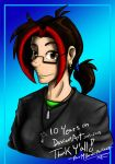 10 Years on DeviantART  2005-2015 by MidNight-Vixen