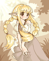 Old oekaki - elf girl by namieiku