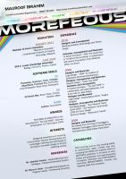 Creative Resume by Morefeous