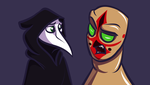 SCP-049 and SCP-173 by Mimi-fox